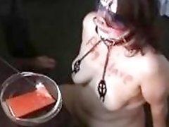 Slave cunt pig disciplined by maledom master BDSM fetish porn