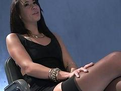 Slutty Esmi Lee enjoyed by two agents