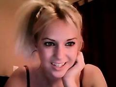 Blonde Girl In Black
