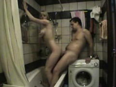 Russian amateur couple shower fuck