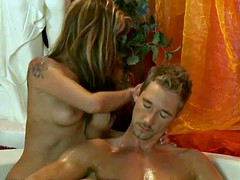Straw gold with massage