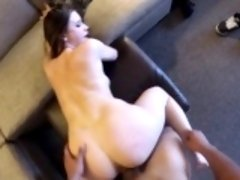 Big breasted bombshell with a heavenly ass loves to ride a long stick