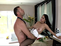 two naughty ladies going crazy over their friend's big dick