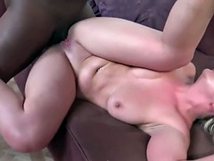 Kinky blonde Brooke Wylde has her first interracial group sex