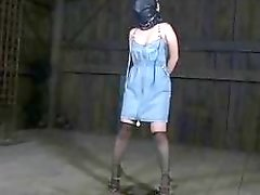 Tied up woman is ready for extreme punishment BDSM movie