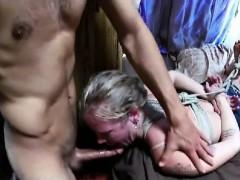 Throat fucking my kinky slave