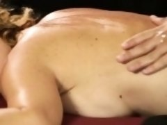 Big tits blond masseuse Krissy Lynn fucked on the table
