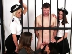CFNM lawyer MILF sucks prisoners dick