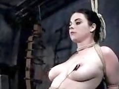 Busty skank loves it rough in the sex dungeon BDSM