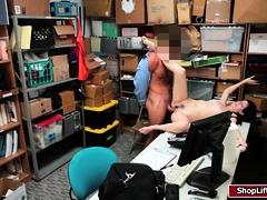 LP officer fucks shoplifter Alexs pussy