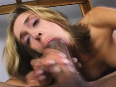 Slutty blonde enjoys the pleasure that a huge black dick has to offer