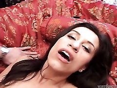 Creampie and sloppy seconds sex with a slut in stockings