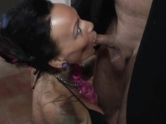 Tattoo and Big Tit MILF Seduce to Fuck by German Chef in Off