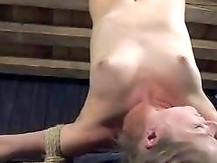 Tied up slave girl receives cruel punishment from mistress BDSM