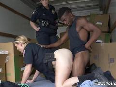 Brunette with bangin ass Black suspect taken on a rough ride
