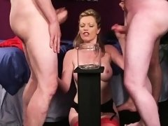 Foxy sex kitten gets cumshot on her face sucking all the cha