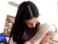 Fresh Sharers by Sapphic Erotica  lesbian love porn with Elise  Sasha