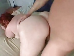 Chubby redhead is all in for hardcore sex
