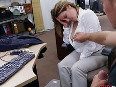 Big tits woman fucked for plane ticket