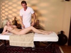 Pussylicked milf jizzed in mouth by masseur