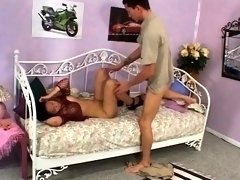 Indian babe loves the hard 10-pounder in her tiny teen pussy