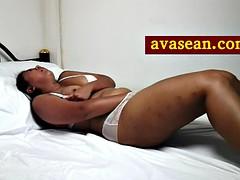 playing in her underwear