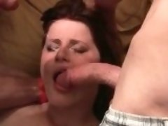 Busty redheda babe is so horny while she part2