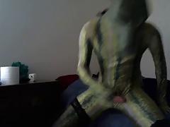 zentai komodo dragon wanking
