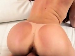 Gorgeous honey with young pussy dripping on a big cock