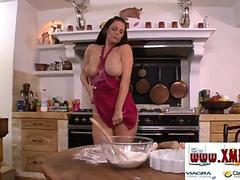 Big tits at the kitchen