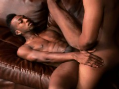 Tattooed black stud gets his fiery ass drilled hard by his gay lover