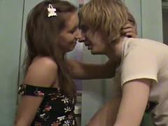 an amateur scene with a teen couple