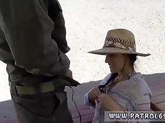 Police woman amateur and faketaxi police officer Mexican border