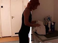 Redhead Stepmom Caught Her Stepson Jerking