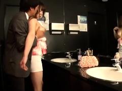 Seductive Japanese babes working their magic on hard cocks