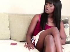 Ebony pornstar facialized