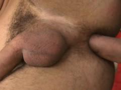 Muscular man is giving fellow an ass banging