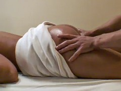 hot busty oiled up blonde heather summers banged hard after massage