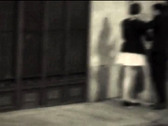 Street voyeur finds a wild couple sharing passionate kisses