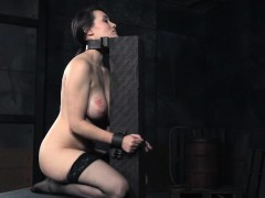 Busty restrained sub gets hardcore punishment