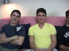 Gay movie Tyler tensed up his body, and Logan just concentra