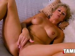 Ginormous Ash-Blonde Groping Her Elderly Slit