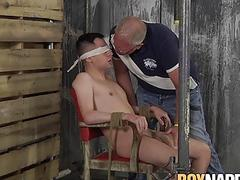 Master Sebastian Kane playing with horny twinks big cock