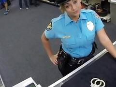 Police officer fucked in the backroom