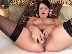 Fur Covered Mommy Shovels A Ginormous Schlong Up Her Mature Cooter