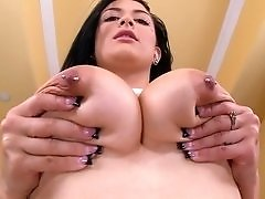 Big Titty Brunette Loves Black Cock
