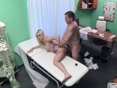 Fake Hospital Blonde patient gives blowjob