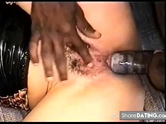 wife and black friend, assrimming, balls licking, anal