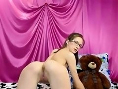 Slim Nerd With Nice Tits Teasing