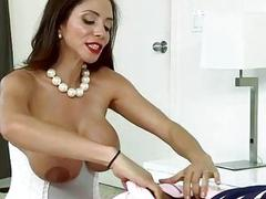 Teen and stepmom share a dick together